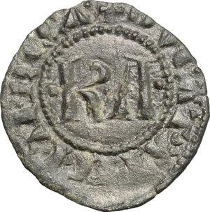 D/ Messina. Carlo I d'Angiò (1266-1282). Denaro.    Sp. 37. MIR 160. MI. g. 0.69  mm. 16.00  NC.  BB-BB+.
