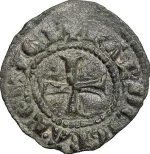 R/ Messina. Carlo I d'Angiò (1266-1282). Denaro.    Sp. 37. MIR 160. MI. g. 0.69  mm. 16.00  NC.  BB-BB+.