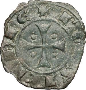 R/ Messina. Giacomo d'Aragona (1285-1296). Denaro.    Sp. 18. MIR 182. AE. g. 0.61  mm. 15.00    Bel BB+.