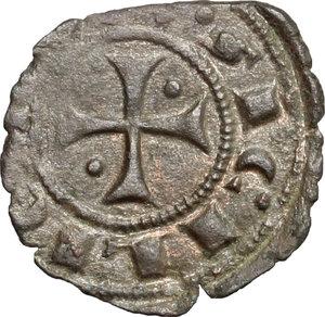 R/ Messina. Federico III d'Aragona (1296-1337). Denaro.    Sp. 34/50. MIR 185. AE. g. 0.66  mm. 16.00    Bel BB.