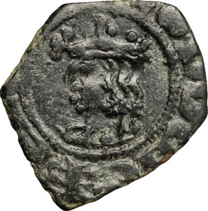 D/ Messina. Ludovico d'Aragona (1342-1355). Denaro.    Sp. 20/21. MIR 192. MI. g. 0.69  mm. 12.00    BB.