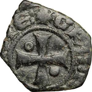 R/ Messina. Ludovico d'Aragona (1342-1355). Denaro.    Sp. 20/21. MIR 192. MI. g. 0.69  mm. 12.00    BB.