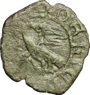 D/ Messina. Federico IV il Semplice (1355-1377). Denaro.    Sp. 223/247. MIR 206/208. MI. g. 0.78  mm. 15.00    BB.