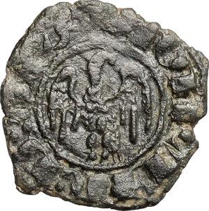 R/ Messina. Giovanni d'Aragona (1458-1479). Denaro, senza sigle.    Sp. 120/5. MIR 233. AE. g. 0.84  mm. 14.00    Bel BB.