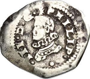D/ Messina. Filippo III (1598-1621). Tarì 1609 con sigle D C.    Sp. 81/82. MIR 348/1. AG. g. 2.47  mm. 21.00    BB.