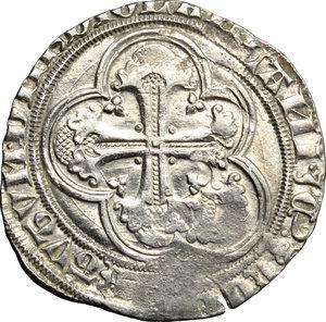 D/ Milano. Gian Galeazzo Visconti (1385-1402). Pegione.    Cr. 7. MIR 119. AG. g. 2.34  mm. 24.50   Difetti di conio. BB.