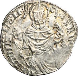 R/ Milano. Gian Galeazzo Visconti (1385-1402). Pegione.    Cr. 7. MIR 119. AG. g. 2.34  mm. 24.50   Difetti di conio. BB.