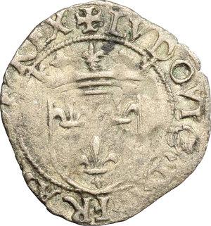 D/ Milano. Ludovico XII (1500-1513). Soldo.    Cr. 12. MIR 245. AG. g. 0.84  mm. 19.00  NC.  BB/MB.