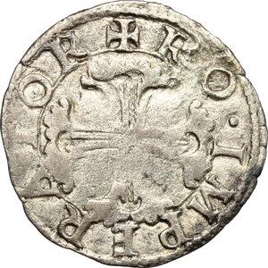 R/ Milano. Carlo V (1516-1556). Soldo. Cr. 21. MIR 294. MI. g. 1.10  mm. 19 NC. BB.