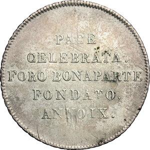 R/ Milano. Repubblica Cisalpina (1800-1802). 30 soldi, anno IX.    Pag. 9. AG.   mm. 29.50  R.  BB+.