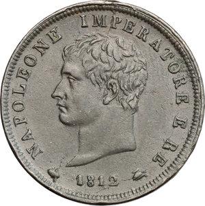 D/ Milano. Napoleone (1805-1814). Soldo 1812.    Pag. 77. CU.   mm. 27.00    qSPL.
