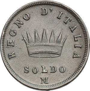 R/ Milano. Napoleone (1805-1814). Soldo 1812.    Pag. 77. CU.   mm. 27.00    qSPL.