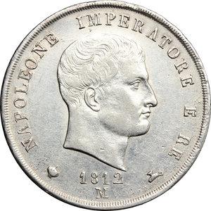 D/ Milano. Napoleone I (1805-1814). 5 lire 1812.    Pag. 30. AG.   mm. 37.00    SPL.