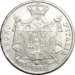 R/ Milano. Napoleone I (1805-1814). 5 lire 1812.    Pag. 30. AG.   mm. 37.00    SPL.