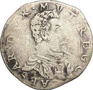 D/ Modena. Cesare d'Este (1597-1628). Giorgino.    CNI tav. XVIII, 7. Rav. Mor. 22. MIR 693. AG. g. 2.38  mm. 23.50  R.  MB/BB.