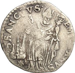 R/ Modena. Cesare d'Este (1597-1628). Giorgino.    CNI tav. XVIII, 7. Rav. Mor. 22. MIR 693. AG. g. 2.38  mm. 23.50  R.  MB/BB.
