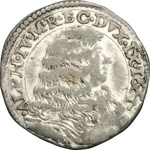 D/ Modena. Alfonso IV D'Este (1658-1662). Mezza lira 1661.    CNI 11/14. Rav. Mor. 5. MIR 813/1. MI. g. 3.20  mm. 26.00  BB. Tracce di argentatura BB.
