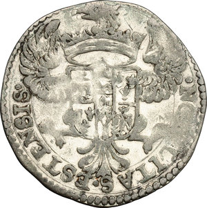 R/ Modena. Alfonso IV D'Este (1658-1662). Mezza lira 1661.    CNI 11/14. Rav. Mor. 5. MIR 813/1. MI. g. 3.20  mm. 26.00  BB. Tracce di argentatura BB.