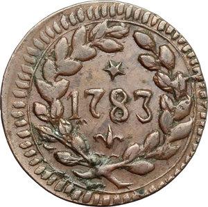 D/ Modena. Ercole III d'Este (1780-1796). Soldo 1783.    CNI 45/48. MIR 864. CU. g. 1.98  mm. 18.50    Bel BB+.