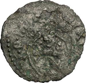 D/ Montalto. Sisto V (1585-1590). Quattrino.    M. 137. Berm. 1388. MI. g. 0.46  mm. 16.00  R.  qBB.