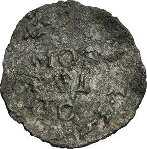 R/ Montalto. Sisto V (1585-1590). Quattrino.    M. 137. Berm. 1388. MI. g. 0.46  mm. 16.00  R.  qBB.
