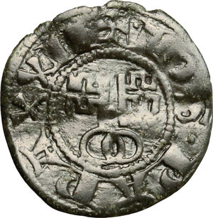 R/ Montefiascone. Giovanni XXII (1316-1334). Denaro paparino.    M. 4/5. Berm. 173. MI. g. 0.66  mm. 16.00  R.  BB.
