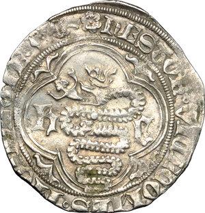 D/ Monza. Estore Visconti (1407-1413). Grosso.    CNI XXXVII, 11. MIR 779. AG. g. 2.22  mm. 25.00  RR.  qSPL.