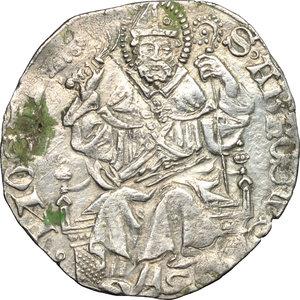 R/ Monza. Estore Visconti (1407-1413). Grosso.    CNI XXXVII, 11. MIR 779. AG. g. 2.22  mm. 25.00  RR.  qSPL.
