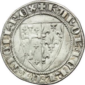D/ Napoli. Carlo I d'Angiò (1266-1285). Saluto.    P/R 3  MIR 20. AG. g. 3.22  mm. 24.00  R.  BB.