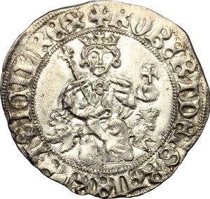 D/ Napoli. Roberto d'Angiò (1309-1343). Gigliato.    P/R 2. MIR 28. AG. g. 3.95     SPL+.