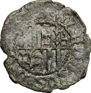 R/ Napoli. Ferdinando I d'Aragona (1458-1494). Denaro con S alla destra del Re.    P/R 31c. MIR 81/3. MI. g. 0.63  mm. 17.00  R.  qBB-BB.