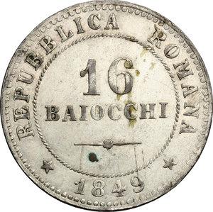 Roma.  Seconda Repubblica Romana (1848-1849). 8 baiocchi 1849