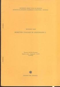 obverse: Hahn W. Monetine italiane di Giustiniano I. Ravenna, 1979. Brossura editoriale, pp. 11, tavv. 2. importante lavoro.