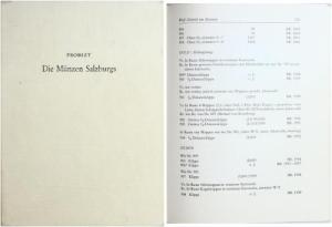 D/ Probszt Günther. Die Münzen Salzburgs. Basel/Graz, 1959. Legatura editoriale, pp. 286 S., tavv. 27