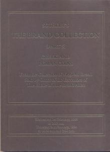D/ SOTHEBY'S. The Brand collection ( Part 5 ). Greek and Roman coins. London, 1 – February – 1984. Pp. no numerate, nn. 718, tavv. 24. Ril. editoriale, buono stato, lista prezzi Val., importante vendita
