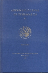 obverse: American Journal of Numismatics 11. New York, 1999. Pp. 184, tavv. 9. Ril. ed.