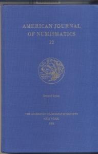 obverse: American Journal of Numismatics 12. New York, 2000. Pag. 271, tavv. 34. Ril. ed.