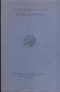 obverse: Museum Notes V. New York, 1952. Pp. 192, tavv. 25. Ril. ed. importante