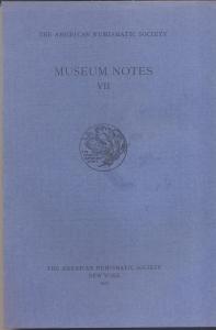 obverse: Museum Notes VII. New York, 1957. Pp. 257, tavv. 45. Ril. ed.