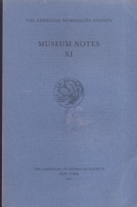 obverse: Museum Notes  XI. New York, 1964. Pp. 335, tavv. 59. Ril. ed.