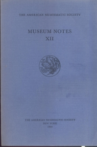 obverse: Museum Notes  XII. New York, 1966. Pp. 232, tavv. 59. Ril. ed.
