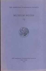 obverse: Museum Notes 15. New York, 1969. Pp. 140, tavv. 23. Ril. ed.