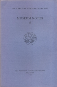 obverse: Museum Notes 16. New York, 1970. Pp. 188, tavv. 38. Ril. ed.