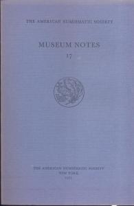 D/ Museum Notes 17. New York, 1971. Pp. 261, tavv. 49. Ril. ed.
