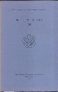 D/ Museum Notes 20. New York, 1975. Pp. 174, tavv. 26. Ril. ed.