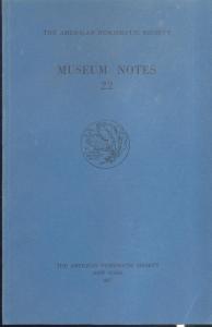 D/ Museum Notes 22. New York, 1977. Pp. 310, tavv. 28. Ril. ed.