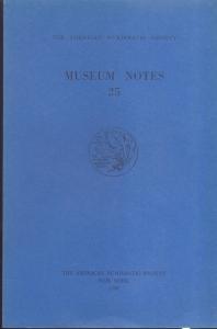 D/ Museum Notes 25. New York, 1980. Pp. 232, tavv. 23. Ril. ed.