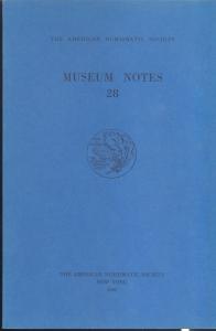 D/ Museum Notes 28. New York, 1983. Pp. 206, tavv. 22. Ril. ed.