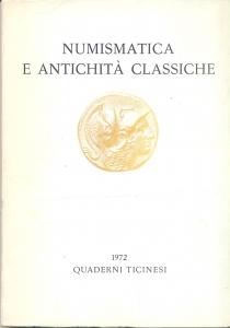 D/ Quaderni Ticinesi di Numismatica. Lugano, 1972. Pp. 191, ill e tavv. nel testo. ril. ed.
