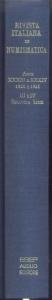 D/ Rivista Italiana di Numismatica. Milano, 1920\21. Ristampa Aldo Ausilio. Pp. 236 +234, ill. + tavv.2. ril ed. rara e importante
